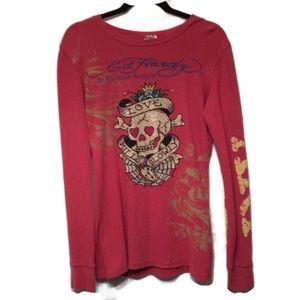 Ed Hardy by Christian Audigier Women's Skull shirt